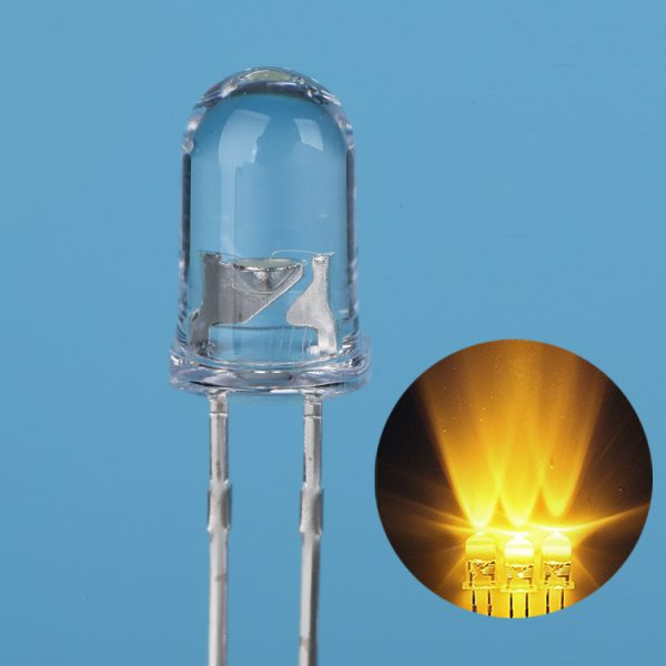 High Bright LED 3mm Yellow clear